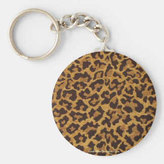 Cadeaux et objet de collection d'empreinte de léop porte-clé rond