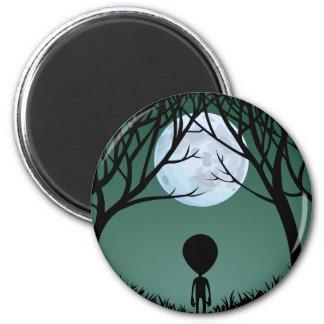 Cadeaux extraterrestres et décor d'aimant étranger magnet rond 8 cm