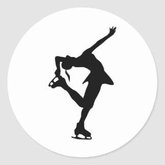 Cadeaux faits sur commande de patineur artistique sticker rond