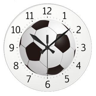 Cadeaux frais chics du ballon de football   grande horloge ronde