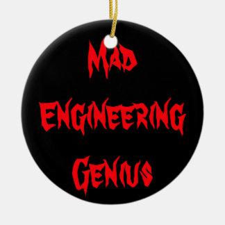 Cadeaux Geeky de ballot de geek de génie fou Ornement Rond En Céramique