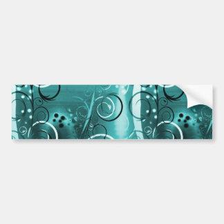 Cadeaux Girly bleus de remous d'Aqua floral Autocollant De Voiture