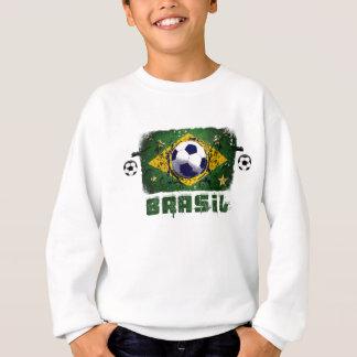 Cadeaux grunges du football du Brésil de Sweatshirt