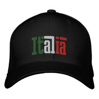 Cadeaux italiens de l'Italie d'amants de casquette Casquette Brodée