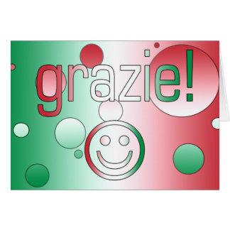 Cadeaux italiens : Merci/Grazie + Visage souriant Cartes De Vœux