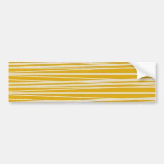 Cadeaux jaunes et blancs de motif de rayures autocollant de voiture