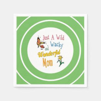 Cadeaux merveilleux farfelus sauvages de maman serviette en papier
