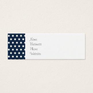 Cadeaux minuscules blancs mignons de pois de bleu mini carte de visite