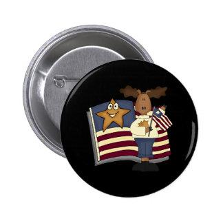Cadeaux patriotiques d'orignaux pour elle badges