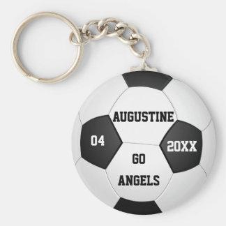 Cadeaux personnalisés du football pour des garçons porte-clé rond