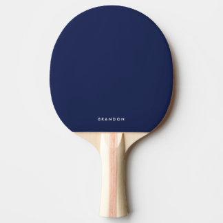 Cadeaux personnalisés pour la palette bleue de raquette de ping pong