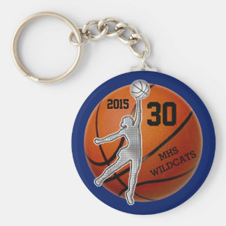 Cadeaux pour l'équipe de basket de filles porte-clé rond