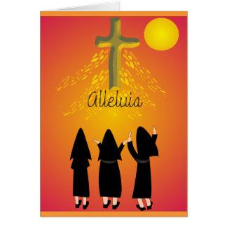 """Cadeaux religieux catholiques de """"alléluia"""" carte de vœux"""