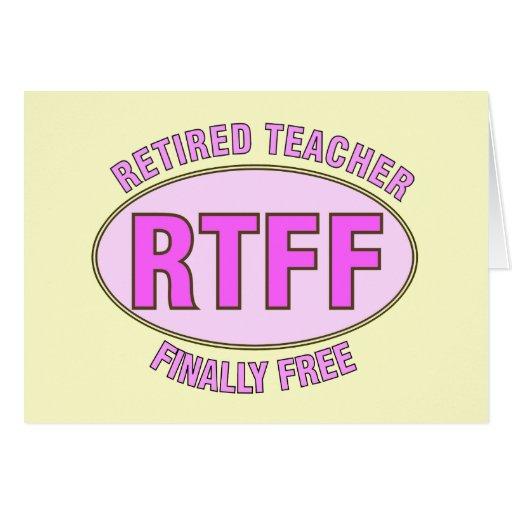 Cadeaux retirés drôles du professeur (RTFF) Cartes De Vœux
