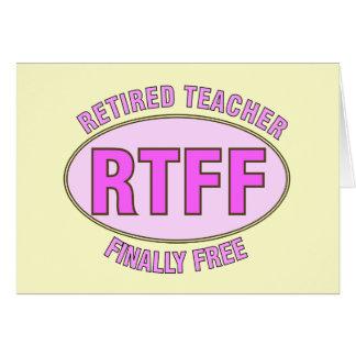 Cadeaux retirés drôles du professeur (RTFF) Carte De Vœux