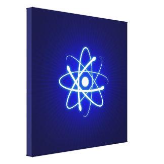 Cadeaux rougeoyants frais de geek de l'atome | toiles tendues sur châssis