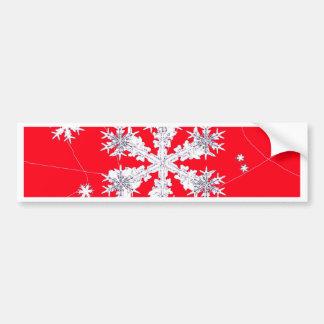 Cadeaux rouges de dérive de flocons de neige par adhésifs pour voiture