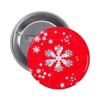 Cadeaux rouges de dérive de flocons de neige par pin's avec agrafe