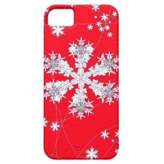 Cadeaux rouges de dérive de flocons de neige par iPhone 5 case