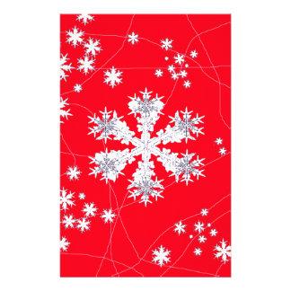 Cadeaux rouges de dérive de flocons de neige par papier à lettre personnalisé