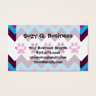 Cadeaux turquoises roses d'amoureux des chiens cartes de visite