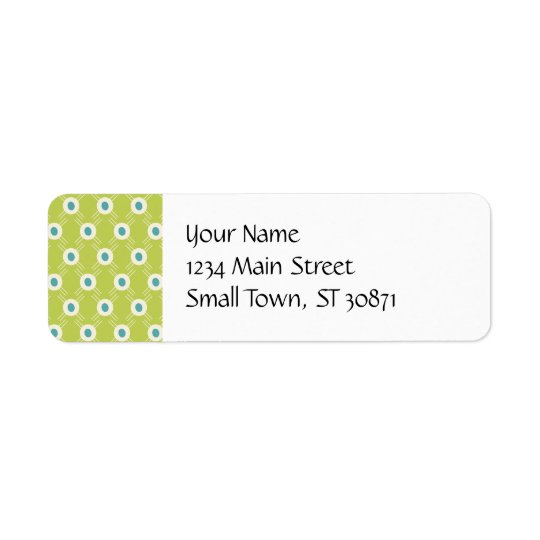 Cadeaux vert-bleu du jour de mère de cercles de étiquette d'adresse retour