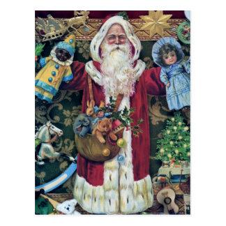 Cadeaux victoriens d'art de Noël de père du père Carte Postale