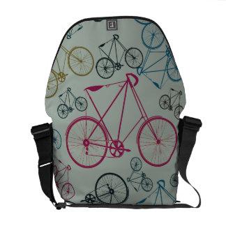 Cadeaux vintages de motif de bicyclette pour des c sacoche