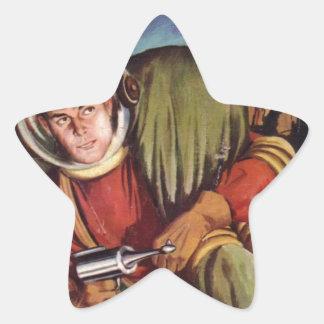 Cadet de l'espace dans l'eau sticker étoile
