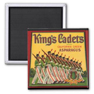 Cadets Asparagus Crate Magnet vintage de KRW du
