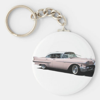 Cadillac rose porte-clé rond