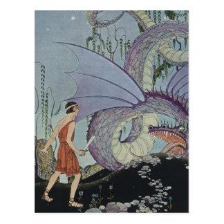Cadmus et le dragon carte postale