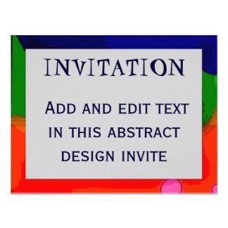 Cadre abstrait 4 INVITATION