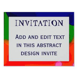 Cadre abstrait 4, INVITATION, Carton D'invitation 10,79 Cm X 13,97 Cm