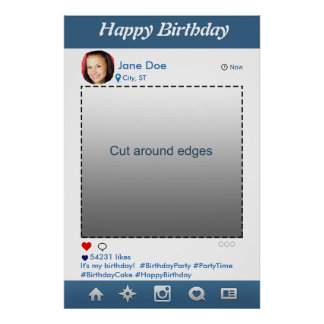 Cadre d'appui vertical de partie d'Instagram Poster