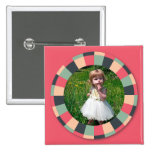 Cadre de cercle d'amusement - sucrerie vintage - r badge avec épingle
