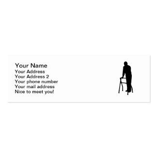 Cadre de marche d'homme de personne âgée carte de visite petit format
