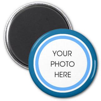 Cadre de photo de bleus layette et de marine magnet rond 8 cm