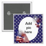 Cadre de photo de drapeau américain badges