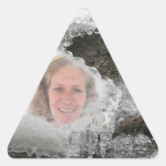 Cadre de photo de glaçons de rivière sticker triangulaire