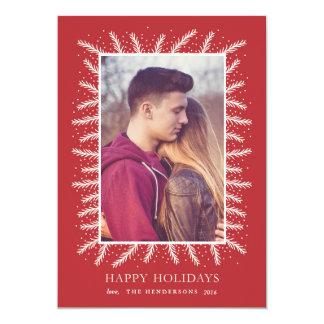 Cadre de pin de vacances carton d'invitation  12,7 cm x 17,78 cm