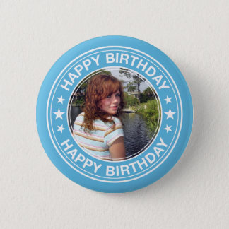 Cadre de tableau de joyeux anniversaire dans le badges