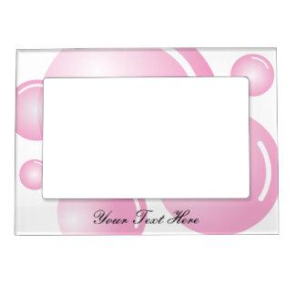 Cadre de tableau magnétique de baby shower rose cadre photo magnétique