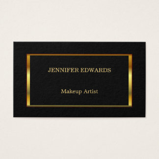 Cadre élégant moderne d'or sur le professionnel cartes de visite