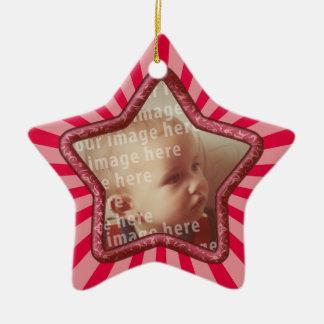 Cadre en forme d'étoile de photo ornement étoile en céramique