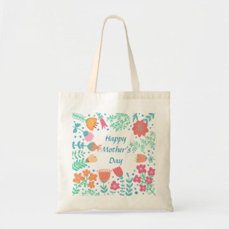 Cadre floral heureux du jour de mère sacs