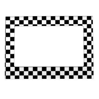 Cadre Magnétique Arrière - plan noir et blanc de damier