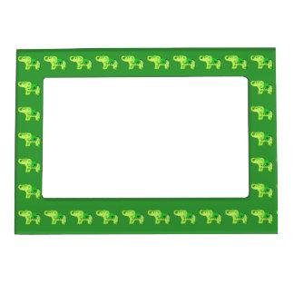 Cadre Magnétique Éléphant de henné (vert/vert de chaux)