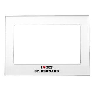 Cadre Magnétique I coeur mon St Bernard
