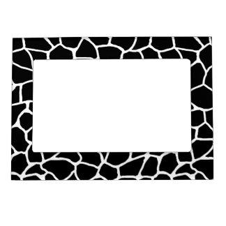 Cadre Magnétique Motif animal d'impression noir et blanc de girafe